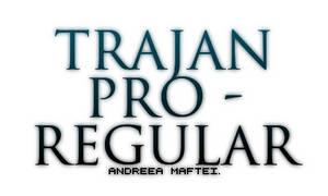 Trajan Pro - regular.