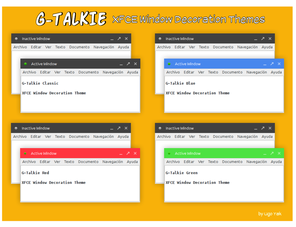 g talkie xfce window decorations by ugoyak on deviantart