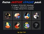 Minimalist Retro Justice League Pack (1920x1080)