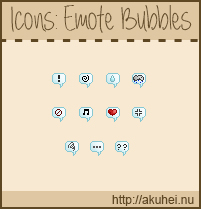 Free Icons: Emote Bubbles by tehmiminator