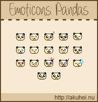 Free Emoticons: Pandas by tehmiminator