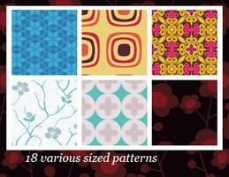 18 various patterns