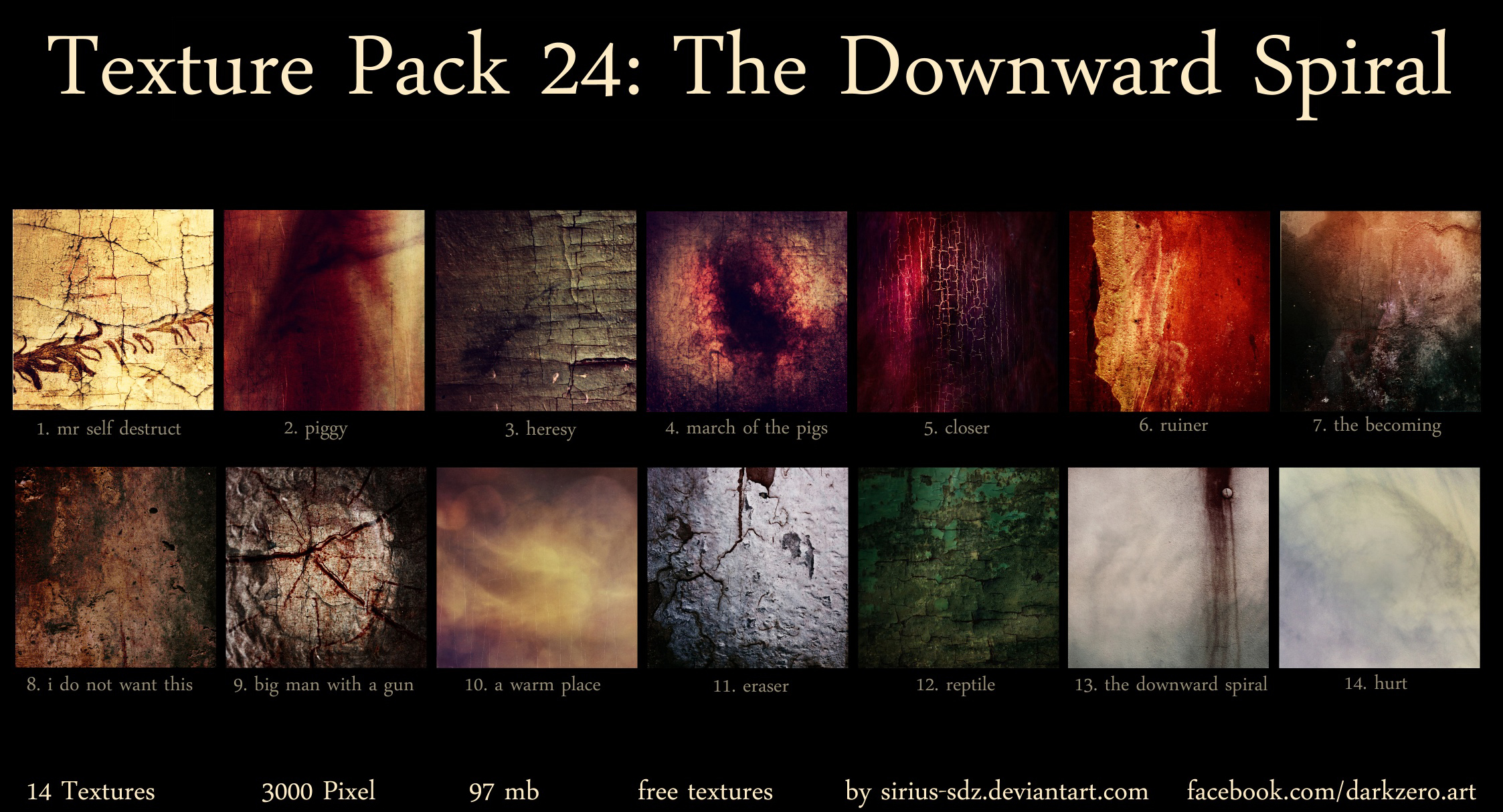Texture Pack 24: The Downward Spiral