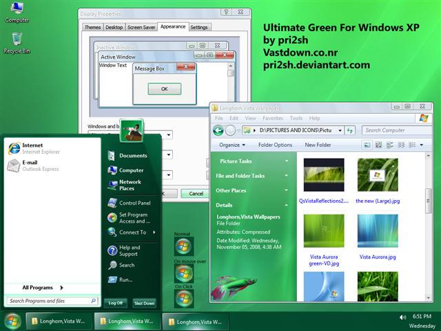 Ultimate Green Theme for XP - Windows Customization