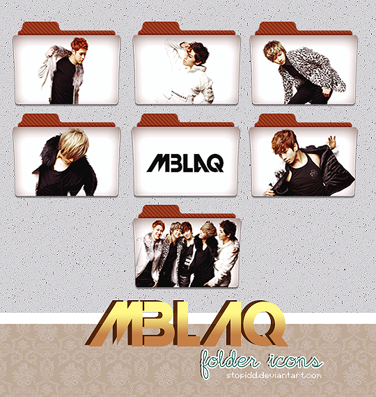 mblaq folder icons (request) by stopidd
