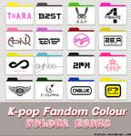 k-pop fandom colour folder icons
