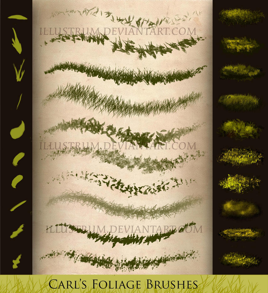 Carl's Foliage Brushes by Illustrum