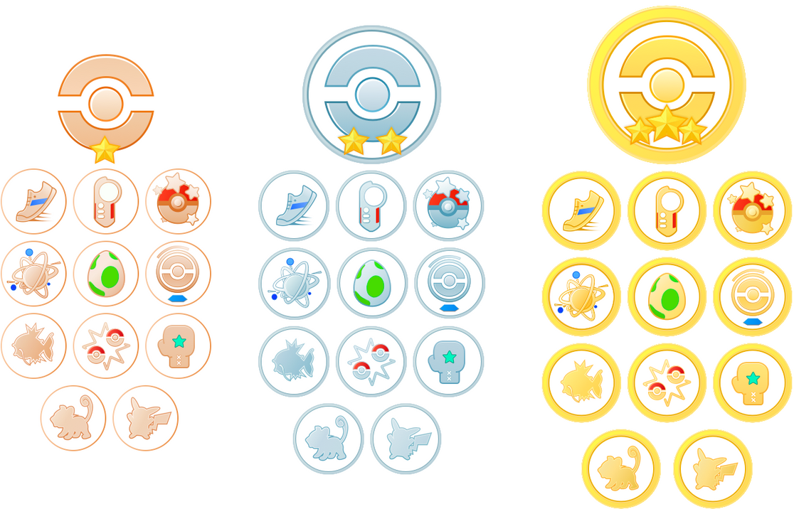 Image result for Pokemon go complete medals