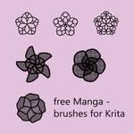 Free Manga - Brushes for Krita