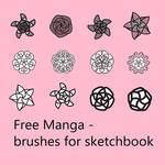 Free Manga - Brushes for Sketchbook
