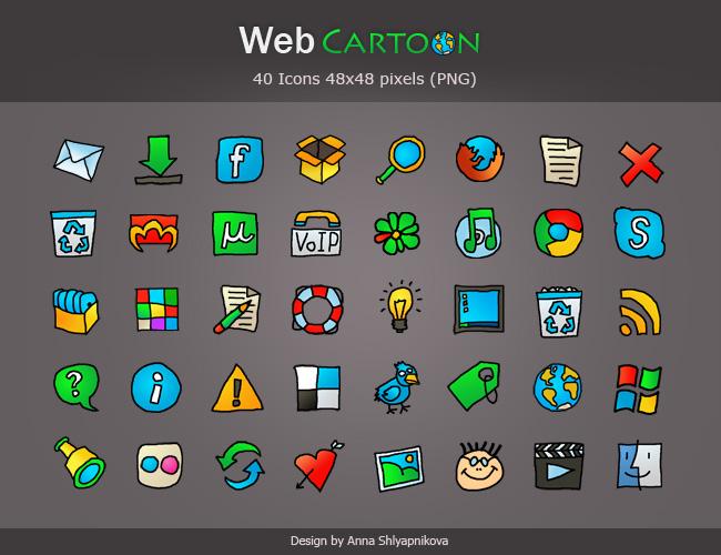 Icons Pack 'Web Cartoon'