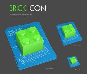 Brick icon by shlyapnikova
