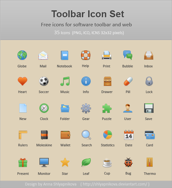 Toolbar Icon Set