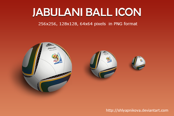Jabulani ball icon by shlyapnikova
