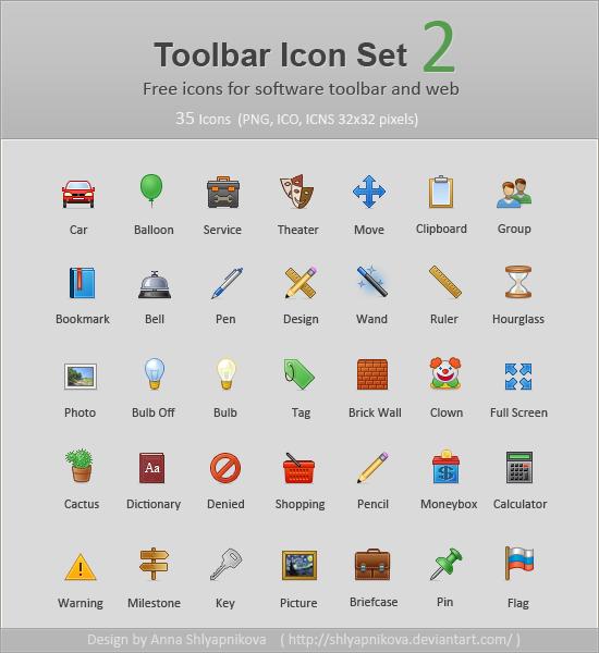 Toolbar Icon Set 2