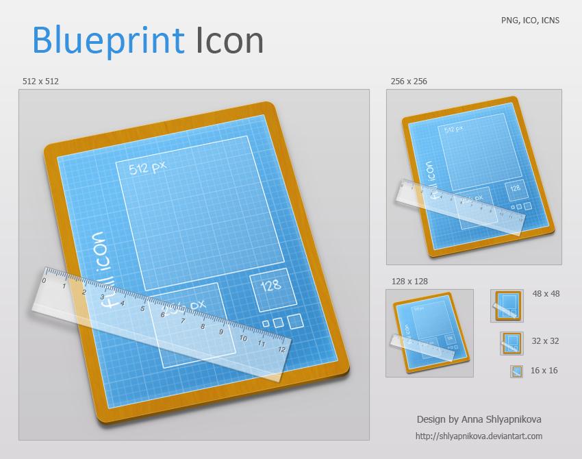 Blueprint Icon by shlyapnikova