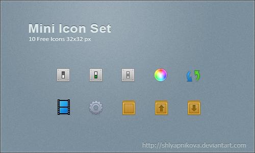 Mini Icon Set by shlyapnikova