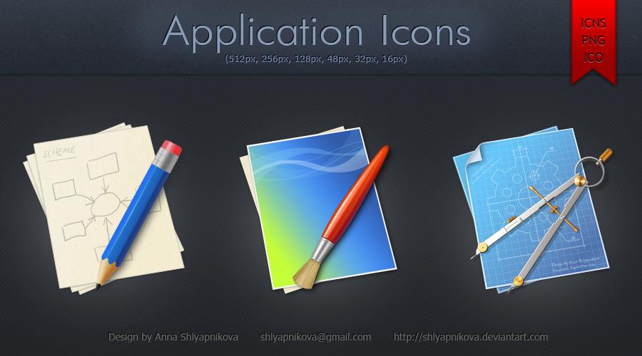 Application Icons by shlyapnikova