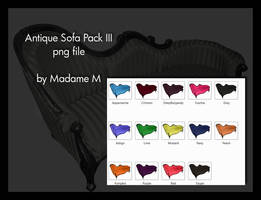 Antique Sofa Pack III by MadameM-stock