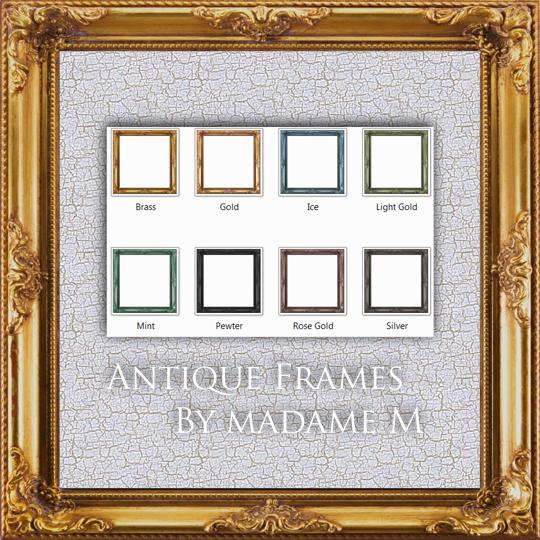 Antique  Frame Pack I - square by MadameM-stock
