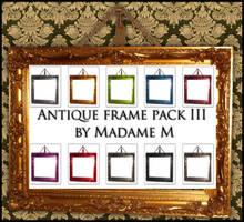 Antique Frame Pack III by MadameM-stock