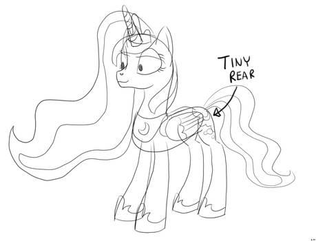 Luna's Tiny Rear