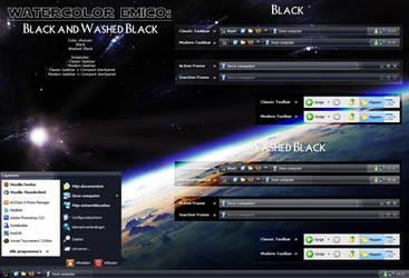 Watercolor Emico: Black by Jamush