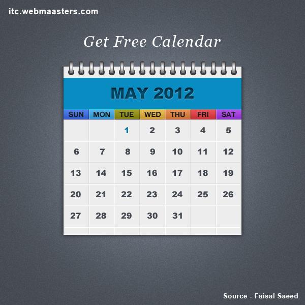 Free Psd Calendar by faisal128