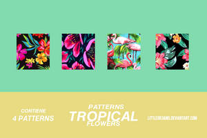 TROPICAL FLOWERS - PATTERNS by LittleDr3ams