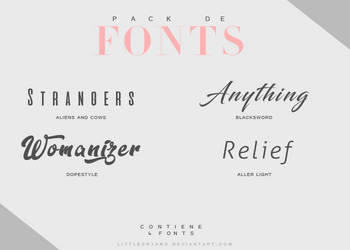PACK FONT V by LittleDr3ams