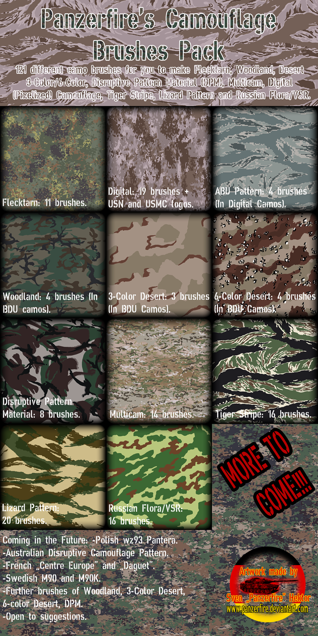 Panzerfire's camo pack by Panzerfire