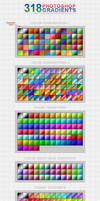 318 Photoshop Gradients [free] by h3design