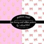 love bunny and ribbon pattern