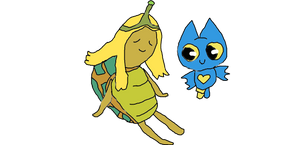 Adorabat Meets Turtle Princess
