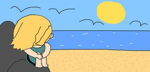 Msalliecat Looking At The Sea
