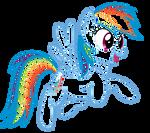 Rainbow Dash lineart