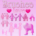 brushes LOVE