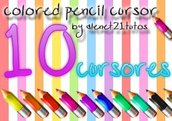 pencil cursors by alenet21tutos