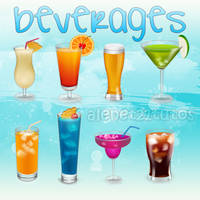 beverages Icons by alenet21tutos