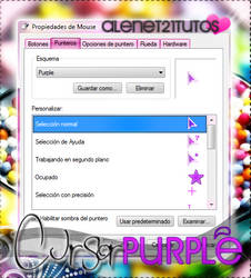 Purple cursor star by alenet21tutos