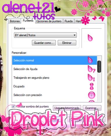 Droplet Pink cursor by alenet21tutos
