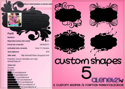 custom shapes cute - alenet21tutos