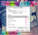 Cursor transparency pink lovely