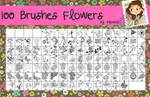 100 Brushes Flowers