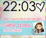 Shine Clock for xwidget