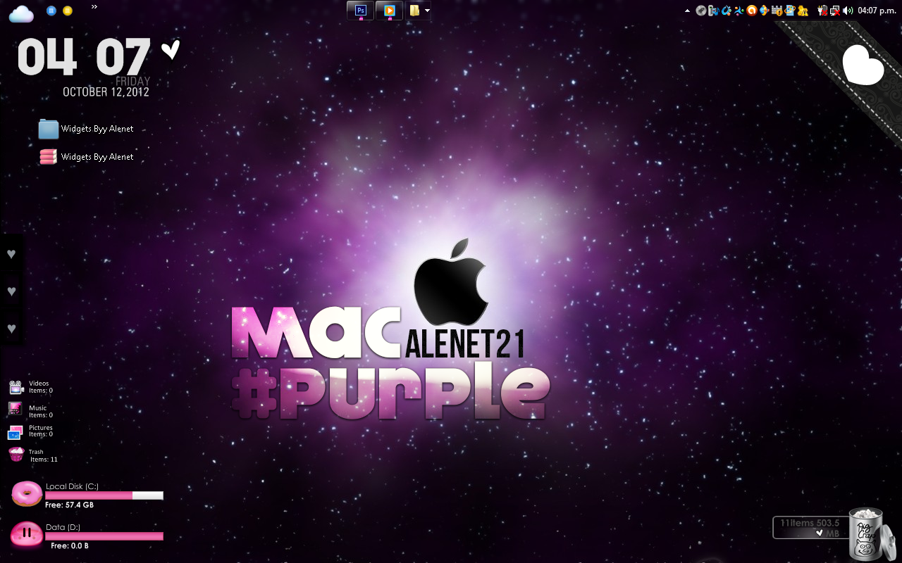 ScreenShoot Mac Purple by alenet21tutos