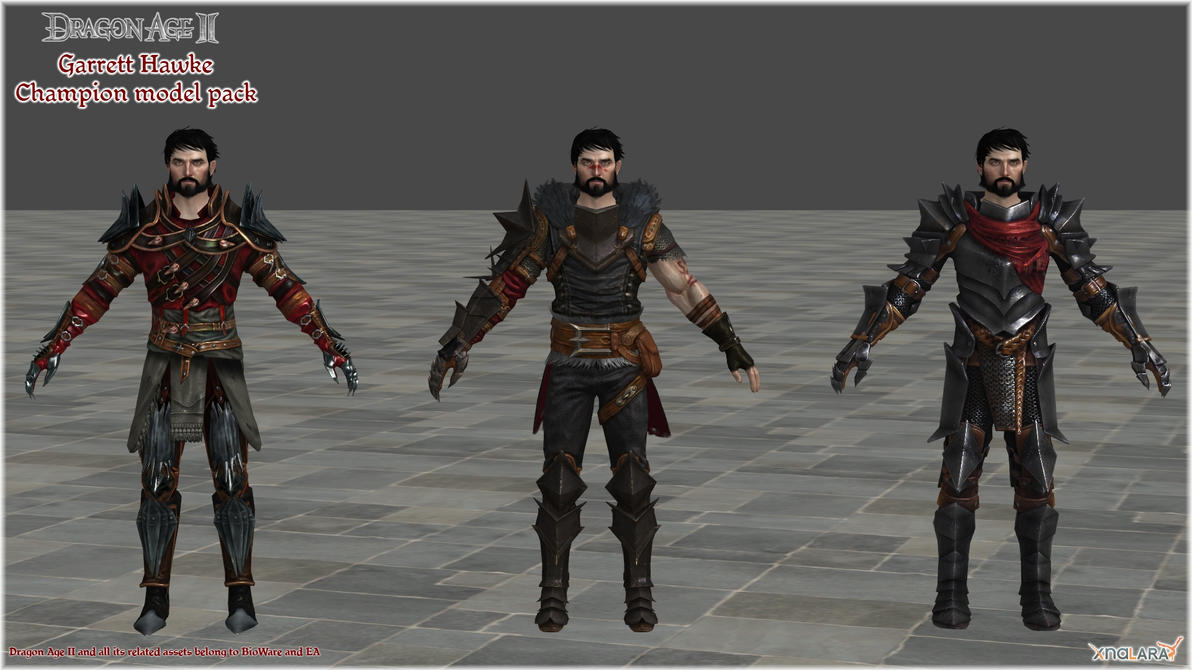 Dragon Age II: Garrett Hawke Champion model pack by Berserker79