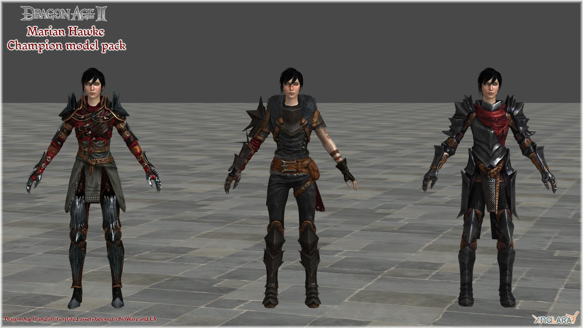 Dragon Age II: Marian Hawke Champion model pack by Berserker79