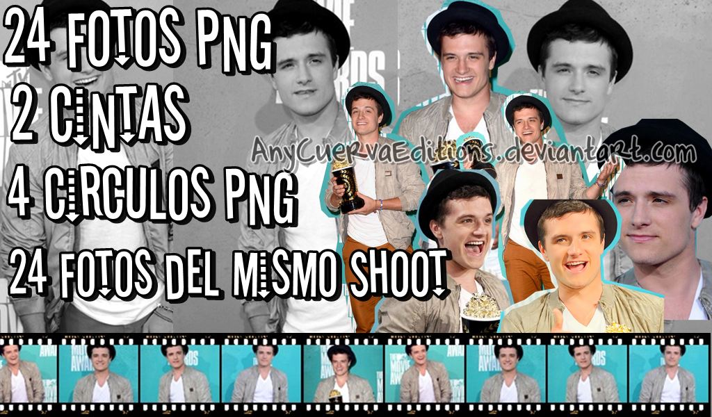 Pack Fotos Png de Josh Hutcherson by AnyCuervaEditions