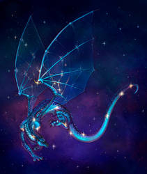Constellation. Draco (animated comm) by Sherharon